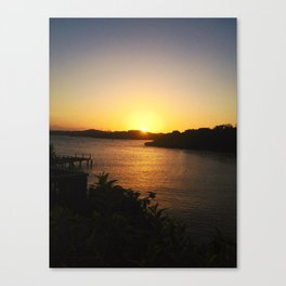 Roatan Sunset Canvas Print