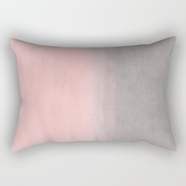 Gradient watercolor pink-gray Rectangular Pillow