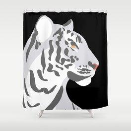 Tiger - Grey Shower Curtain