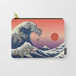 The Great Wave of English Bulldog Carry-All Pouch