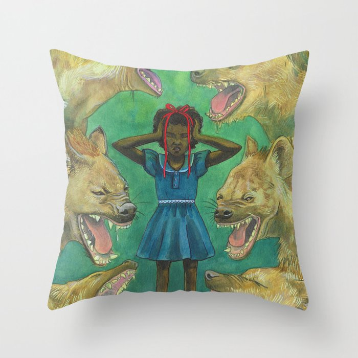 """Little Girls Cannot Fly"" they said Throw Pillow"