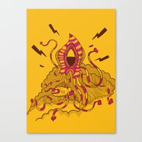 kraken Canvas Prints featuring Kraken! by Popnyville