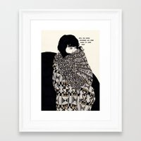gorillaz Framed Art Prints featuring Why You Wanted To Be ? by Kaethe Butcher
