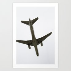 Airplane Flying Above Art Print