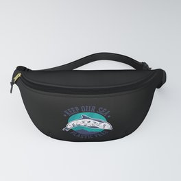 Keep our sea plastic free dolphin stomach plastics Fanny Pack