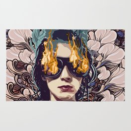 The Girl on Fire Rug