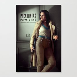 Pocahontas - Private Eye Canvas Print