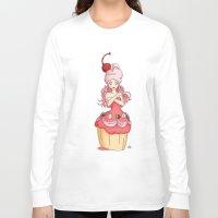 dessert Long Sleeve T-shirts featuring Dessert Princess by Kaylynn Franco
