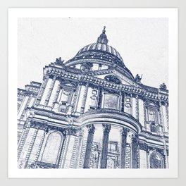 St Pauls Cathedral, London Art Print