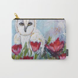 Owl in Poppies Carry-All Pouch