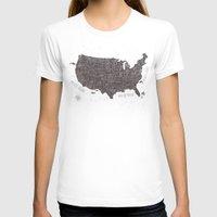 usa T-shirts featuring USA by Mike Koubou