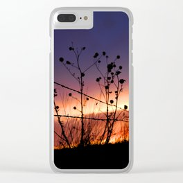 Fencepost Silhouette KS Clear iPhone Case