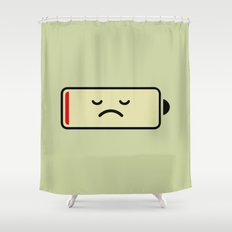 Sad Battery Shower Curtain