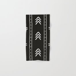 Minimalist mud cloth black Hand & Bath Towel