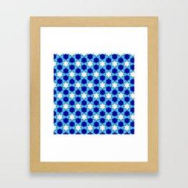 Stars And Hexes Framed Art Print