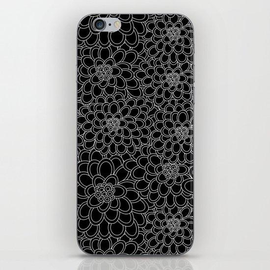 """Black flowered tree"". iPhone & iPod Skin"