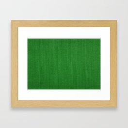 Green cord fabric background Framed Art Print