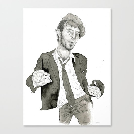 Tom Waits: The Early Years Canvas Print