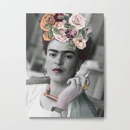 Frida Kahlo Flowers Metal Print