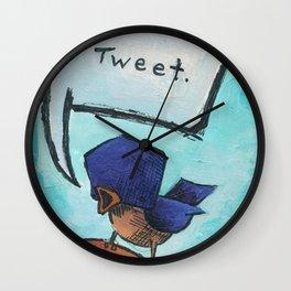 Tweet! Wall Clock