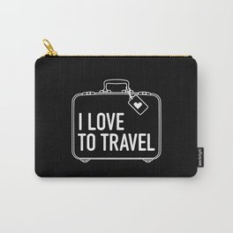 I Love To Travel Carry-All Pouch