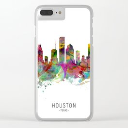Houston Texas Skyline Clear iPhone Case