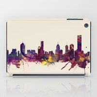 melbourne iPad Cases featuring Melbourne Skyline by artPause