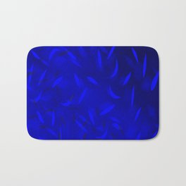 Abstract Solid blue pattern . Bath Mat