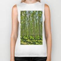 birch Biker Tanks featuring Birch Grove by Svetlana Korneliuk