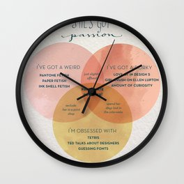 Passionate Lady Wall Clock