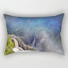 Wild waterfall in abstract Rectangular Pillow