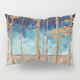 Forest of Blue and Gold Pillow Sham