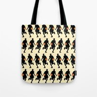 basketball Tote Bags featuring Basketball by superdumb
