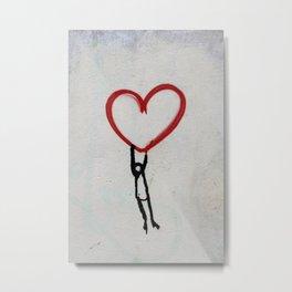 heart wall Metal Print