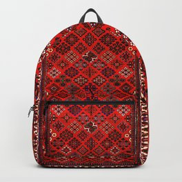 -A30- Red Epic Traditional Moroccan Carpet Design. Backpack