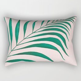 Tropical Palm Leaf #3 | Watercolor Painting Rectangular Pillow