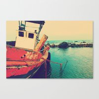 boat Canvas Prints featuring Boat by AJAN