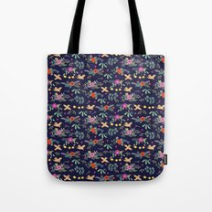 Cute vintage pattern with birds and flowers Tote Bag
