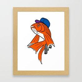 Gangster Goldfish Framed Art Print