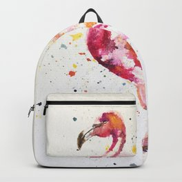 flamingo water color art Backpack