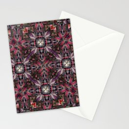 number 315 multicolored red pink orange silver Stationery Cards