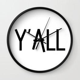 Y'all Wall Clock