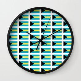 flag of Bahamas – Nassau,Bahamian,Bahamianese,Junkanoo,Regattas Wall Clock