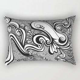 Life Lines (Black) Rectangular Pillow