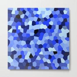 Geometric Blues Metal Print