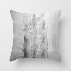 Bunny Girl Glitch Throw Pillow