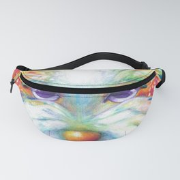 West Highland White Terrier Westie Dog Winston abstract dog art Fanny Pack