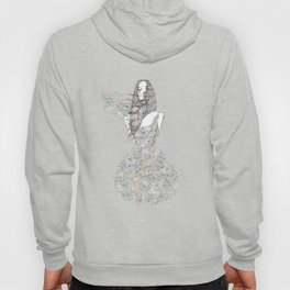 Flower Girl - pattern Hoody