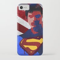 superman iPhone & iPod Cases featuring Superman by Scar Design