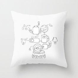 How the creative brain works? Throw Pillow